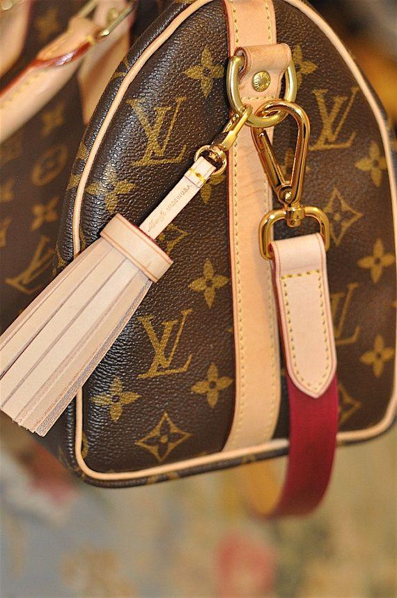 Mcraft handmade vachetta leather tassel purse charm bag charm ... 66da176f7a2d8