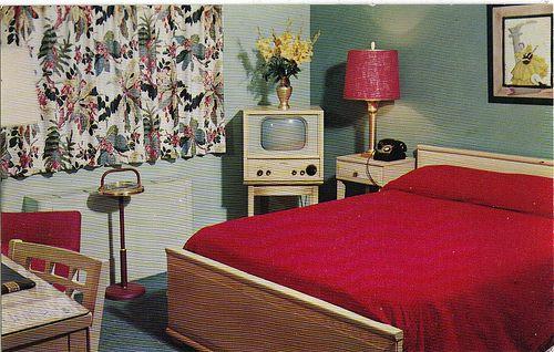 1950's bedroom interior