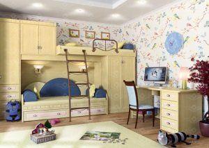 Детские комнаты из массива дерева на заказ
