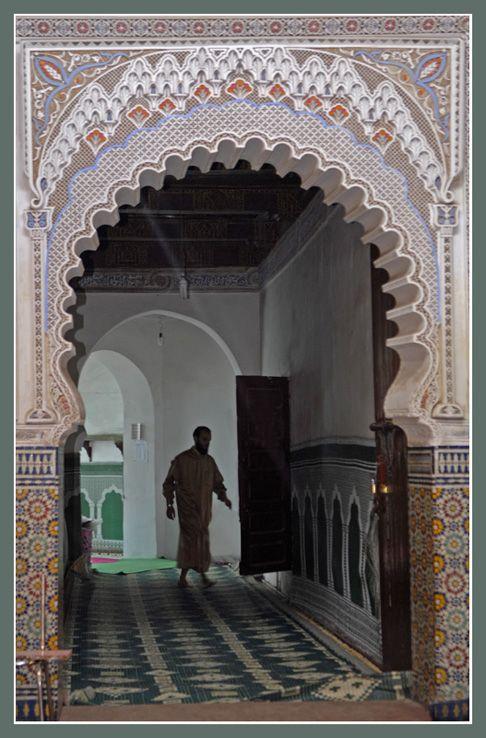 A mosque in Marrakech Souks, Marrakech_ South Morocco