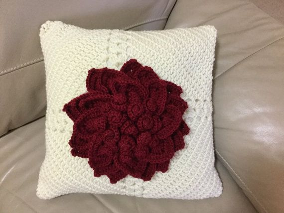 Decorative pillow Crochet pillow crochet by JilaCrochet on Etsy