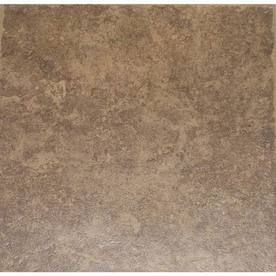 style selections 12 in x 12 in la balantina brown ceramic lowes kitchen tile floors Kitchen Floor Covering