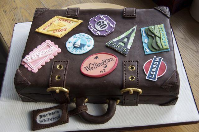 Was Asked To Do A Travel Themed Cake For Barbara's 60th Party cakepins.com