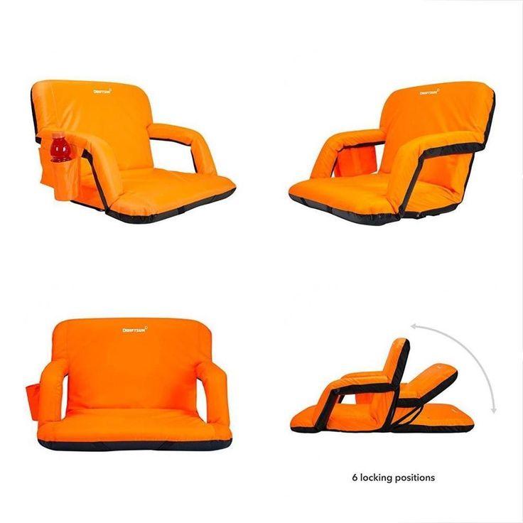 Extra wide deluxe stadium seat reclining bleacher chair