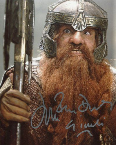 John Rhys Davies Signed / Autographed Lord of the Rings Gimli 8x10 Glossy Photo. Includes Fanexpo F @ niftywarehouse.com #NiftyWarehouse #LOTR #LordOfTheRings #Movies #Geek #Nerd #Books #Fantasy