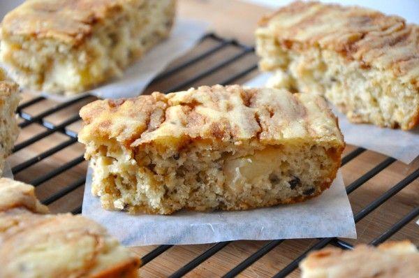 Baked Apple Streusel #Vegan Pancake Bars