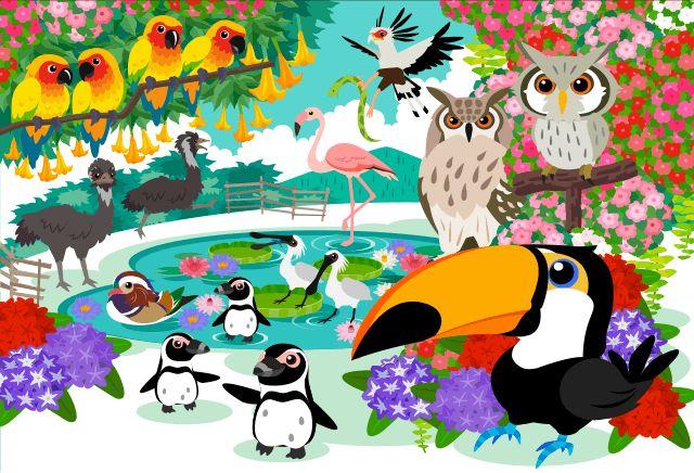 [掛川花鳥園]花と鳥とのふれあいが楽しめるテーマパーク