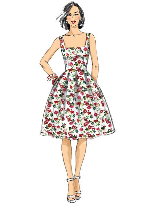 a54e5709ad6d9 Butterick B6556 Misses  Dress Pattern by Gertie  sewingpattern  retropretty