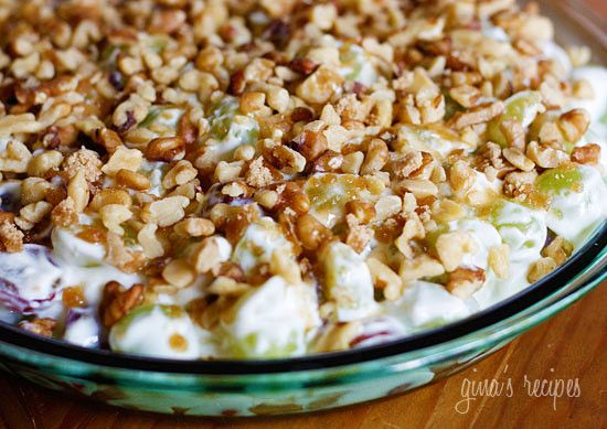 Warning! This dessert is highly addictive and hard to stop eating! Don't be fooled by the humble ingredients, this is easy to make, very refreshing, and is perfect to bring to a BBQ. Truthfully, the first time I heard of this grape dessert, the ingredients did not appeal to me. But when I tasted it, OMG! This is one of those recipes you'll be making again and again and chances are you probably have all the ingredients in your kitchen. Easily doubles for more people.    Creamy Grape Dessert…