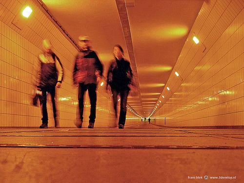 Pedestrian tunnel under the Maas river, Rotterdam, The Netherlands