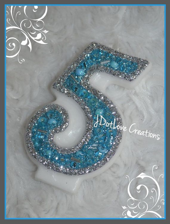 Cinderella and Frozen Inspired Birthday Candle - You Choose the Number on Etsy, $5.00