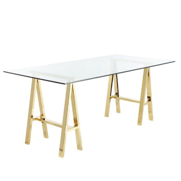 30++ Glass desk with gold legs ideas