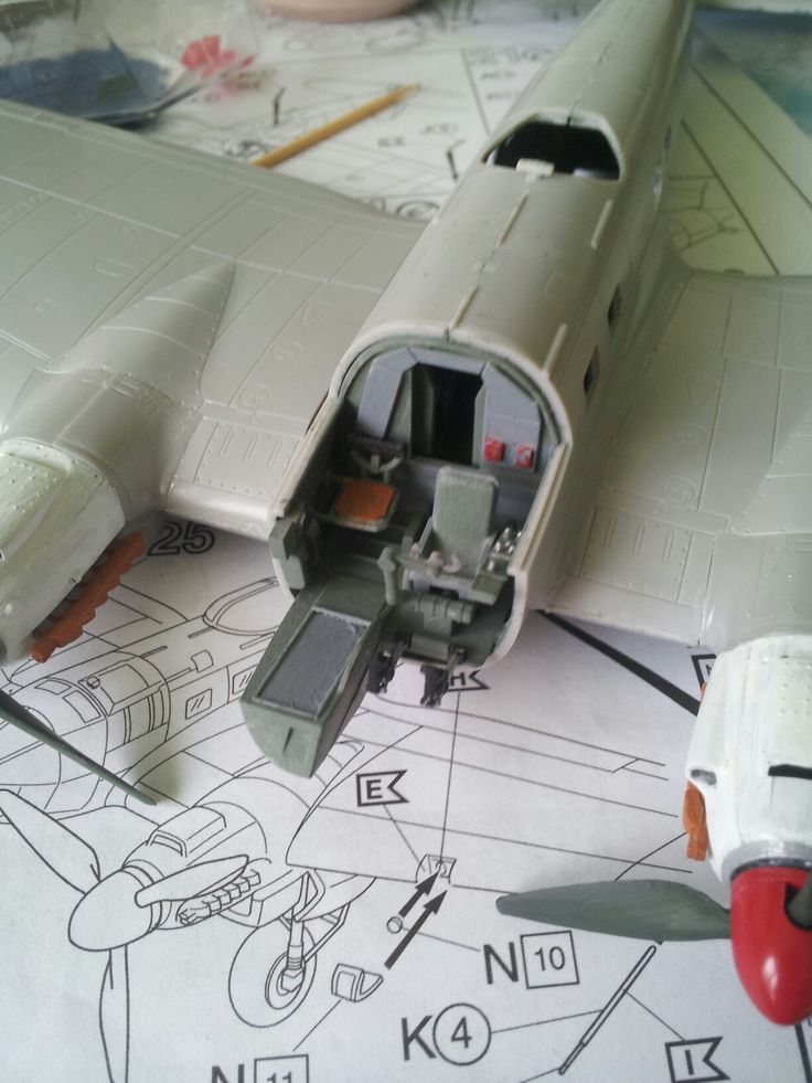 Cocpit from plane Heinkel He 111 H-6  Scale 1:72
