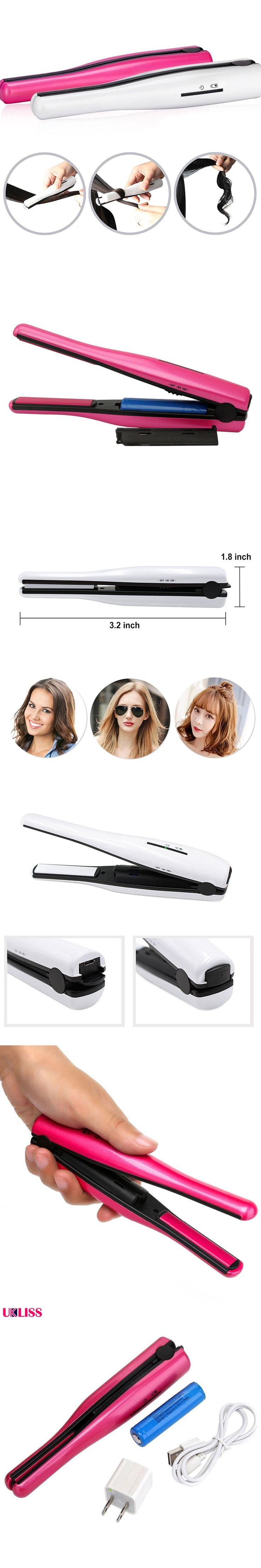 Travel Hair Straightener Portable USB Charge Wireless Hair Straight Iron Charging straight splint USB charging