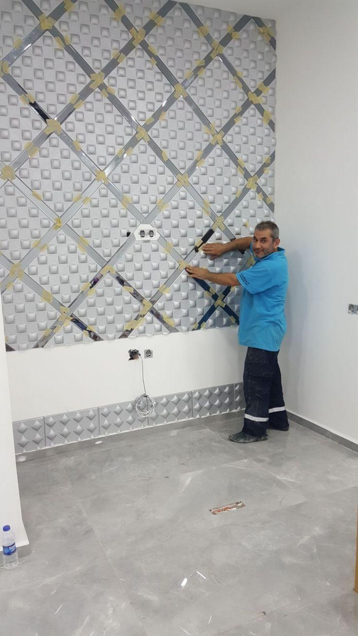 Güzellik merkezi duvar dekorasyonu uygulamamız