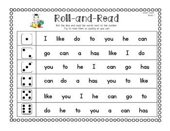 "This pack contains a weekly ""Roll and Read"" game for the 1st grade McGraw-Hill Wonders Reading series.  There is a weekly page for the Smart Start words and Units 1-6 words.  Each game contains that week's high-frequency words, plus a few previous high-frequency words for added review."