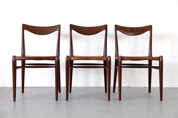 Adore Modern - Dreier Set Teakholz Stühle von Rastad & Relling