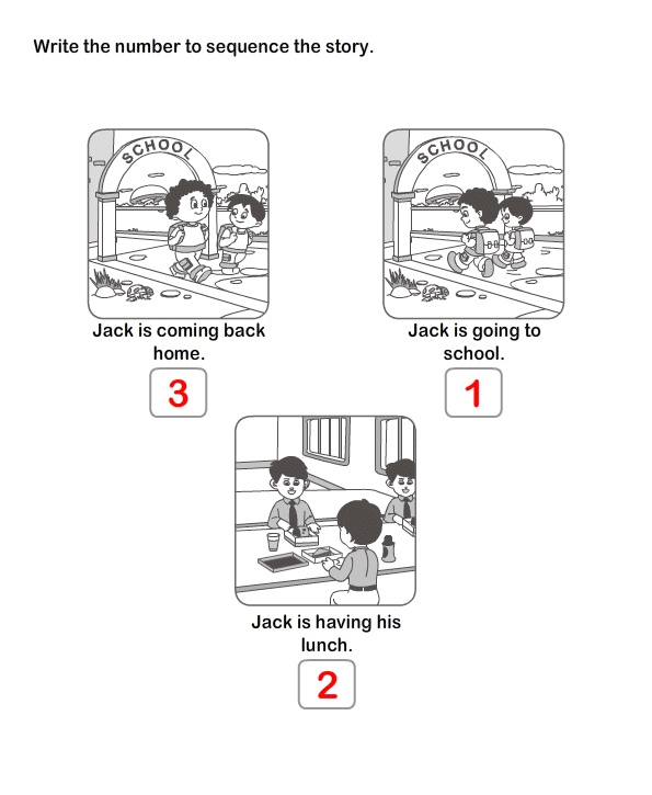 Printable Educational Worksheets , Online Worksheets For Kids , Learn Picture Sequence
