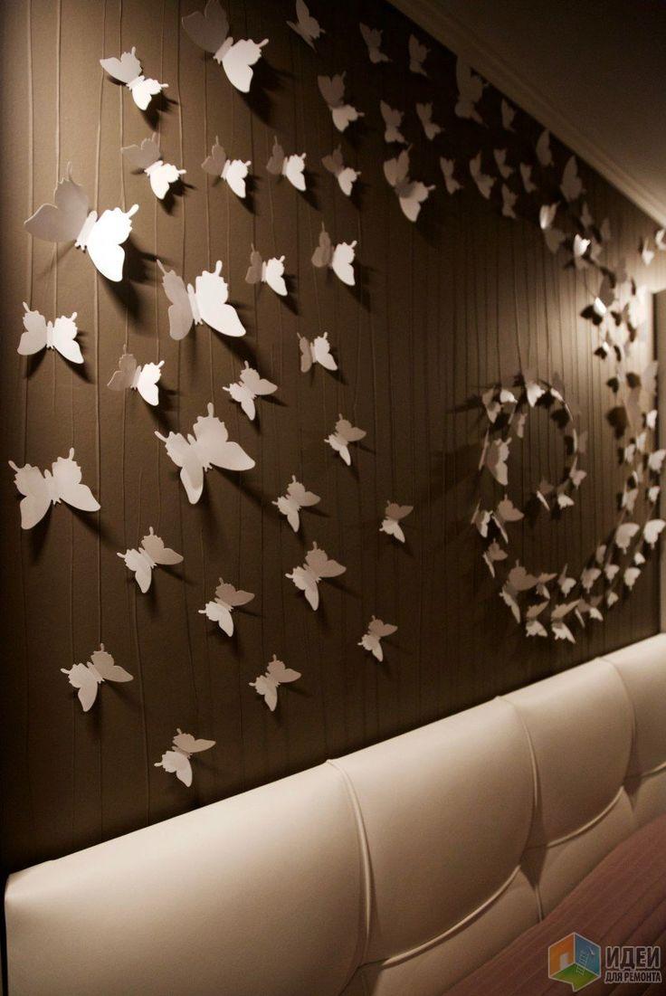 Стеновое панно бабочки, декор для стен бабочки