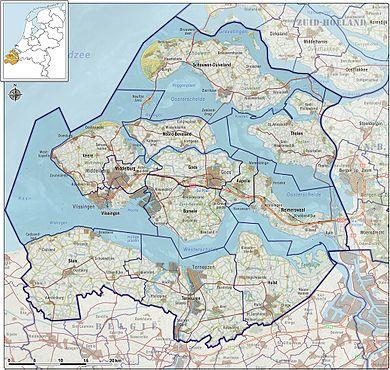 Map of Zeeland