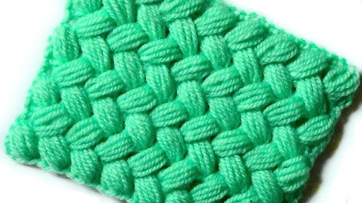 Braided crochet pattern of puff stitches