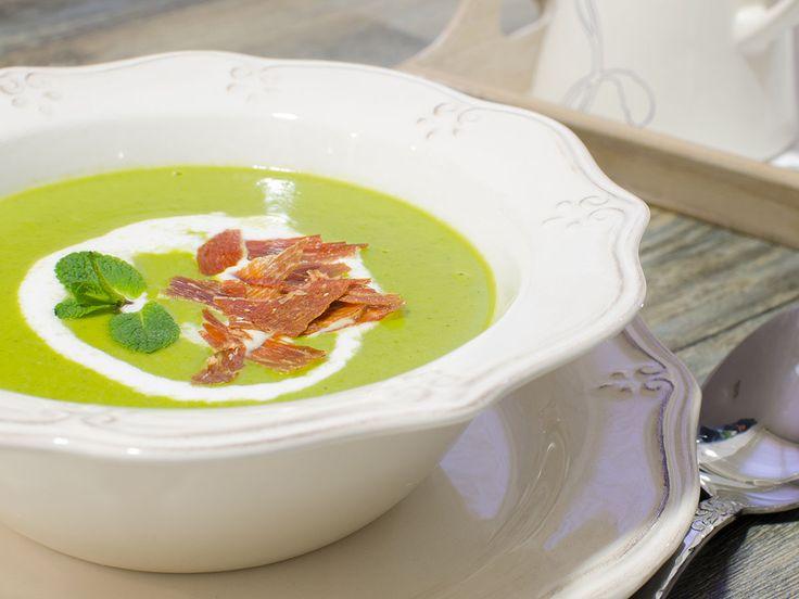 Crema de guisantes con hierbabuena   Cookinaria   Recetas Mycook