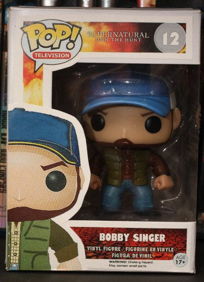 Supernatural Bobby Singer - Custom Funko pop toy... I like that the age is 17+!