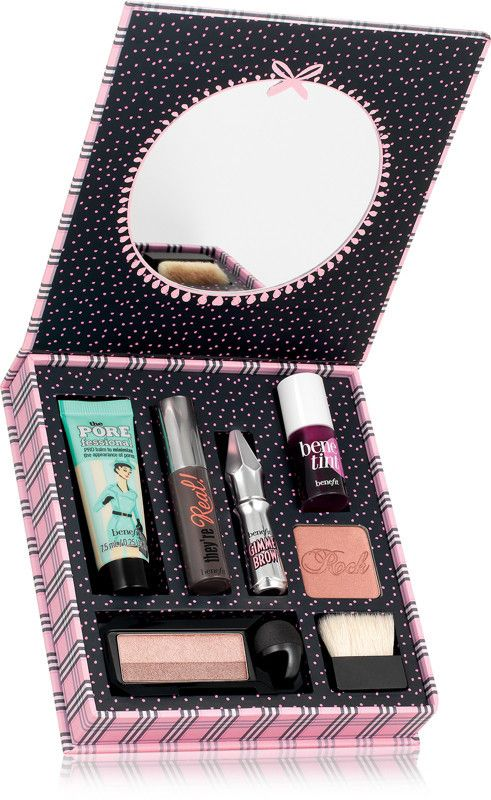 Benefit Cosmetics Beauty School Knockouts Beauty Cheats Full-Face Makeup Kit - Perfect gift for her, sisters, mother's day, girlfriend, birthday or holiday present