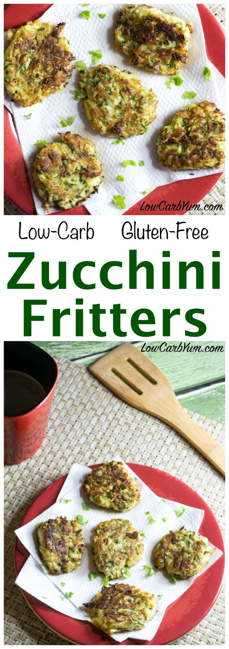 You will love these healthier coconut flour zucchini fritters made low carb and gluten free. Serve them as an appetizer or a side to compliment your meal. LCHF Keto Atkins Recipe