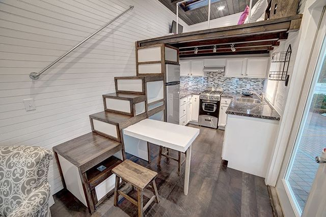 The Freedom Tiny House, just completed by Alabama Tiny Homes is for sale today at tinyhouselistings.com. Video tour coming soon. #tinyhouseswoon #alabamatinyhouse #tinyhouseforsale