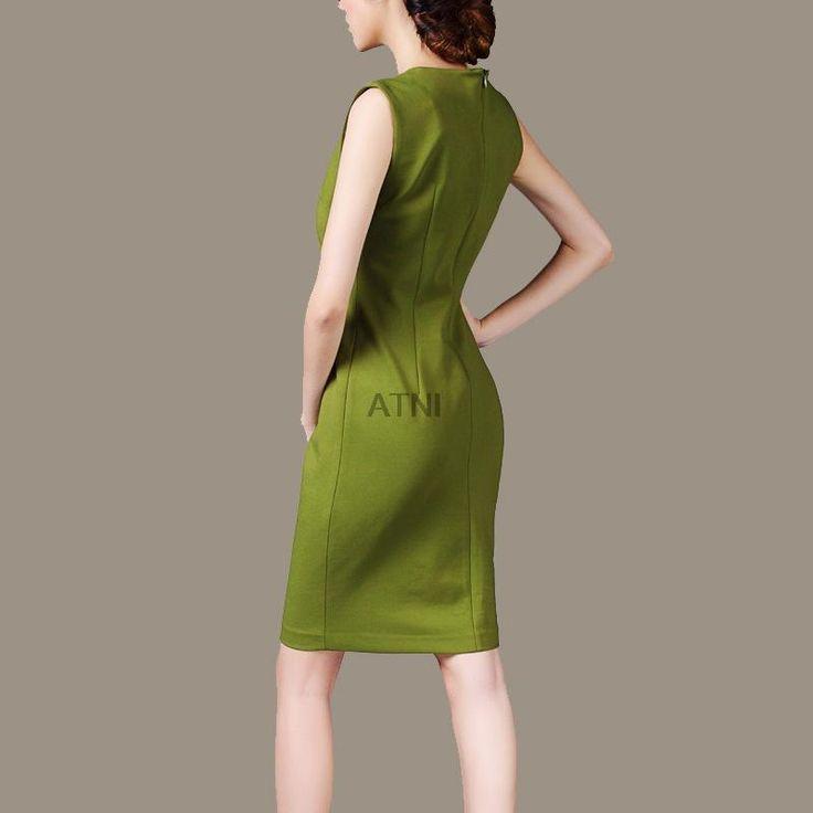 AUDEALBANO Летом Случайные Сплошной Цвет Тонкий Зеленый V образным Вырезом Элегантный Рабочая Одежда Bodycon Эластичные Платья Женщины Оболочка Плюс Размер купить на AliExpress