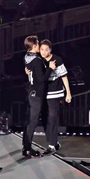 Oh Sehun, (EXO's 2nd tallest member) standing on his tiptoes to talk to a member shorter than him… And all Jongin wanted was hug. (3/3)