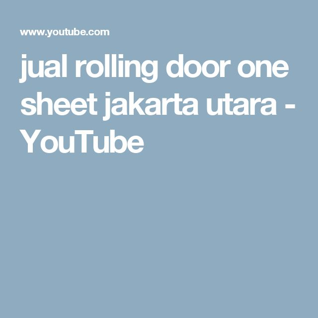 jual rolling door one sheet jakarta utara - YouTube
