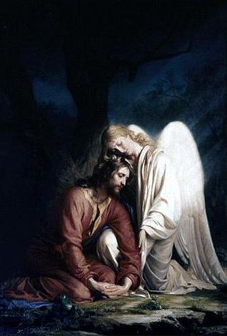 Jesus - Angels came and visited Him while He suffered for us. He spoke each of our names and He suffered for all of those who believe on His name. A Love I cannot comprehend but I can so fully immerse myself.
