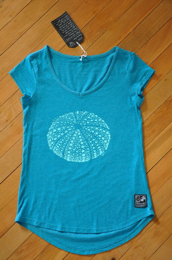Ladies Kina T-Shirt Turquoise by SonjaHandcraftedTees on Etsy
