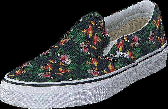 Køb Vans Classic Slip-On (Chambray) Parrot/True White Sorte sko | Slip on for Damer ✓ Fri fragt ✓ Fri retur ✓ Hurtig leverance. Prisgaranti!