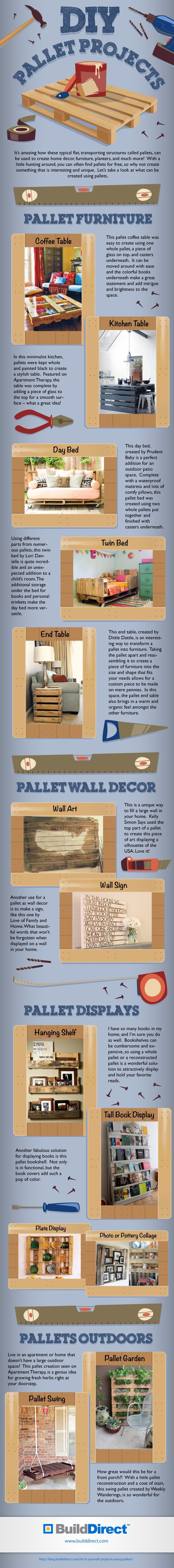 Great ideas to turn your regular pallet into a creative and beautiful piece of furniture or decor!