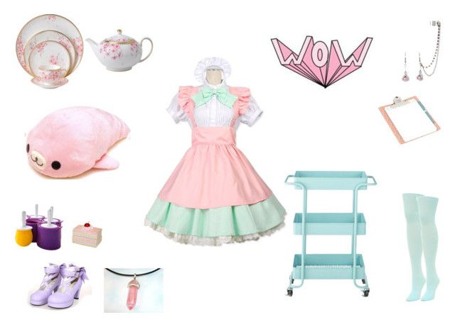 kawaii girl .1 by mayleneholm on Polyvore featuring We Love Colors, Wedgwood, Home Decorators Collection and Zoku