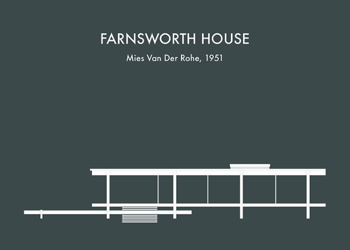 5 | Whimsical Illustrations Of Famous Buildings, From Fallingwater To The Farnsworth House | Co.Design | business + design