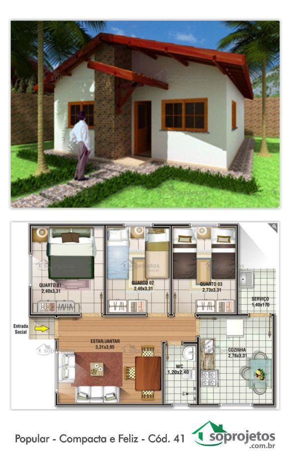 EXCELENTE RESIDÊNCIA PADRÃO POPULAR. 62 METROS QUADRADOS. Residência com 3 dormitórios e 1 banheiro. Sala de estar e jantar conjugados. Possui uma cozinha e área de serviço. Telhado em 2 águas.