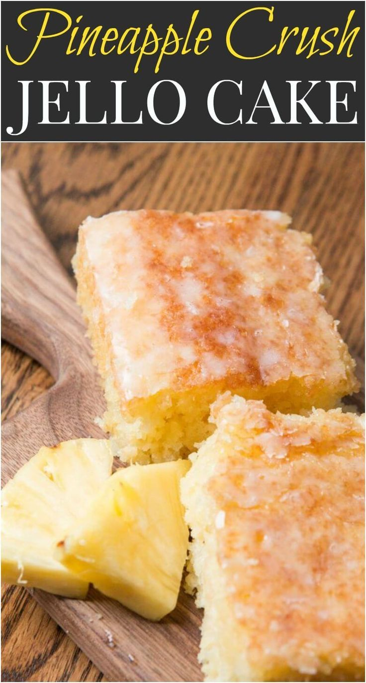 Pineapple crush jello cake is seriously one of the most moist cakes out there. The pineapple niblets are barely noticeable but give such flavor!