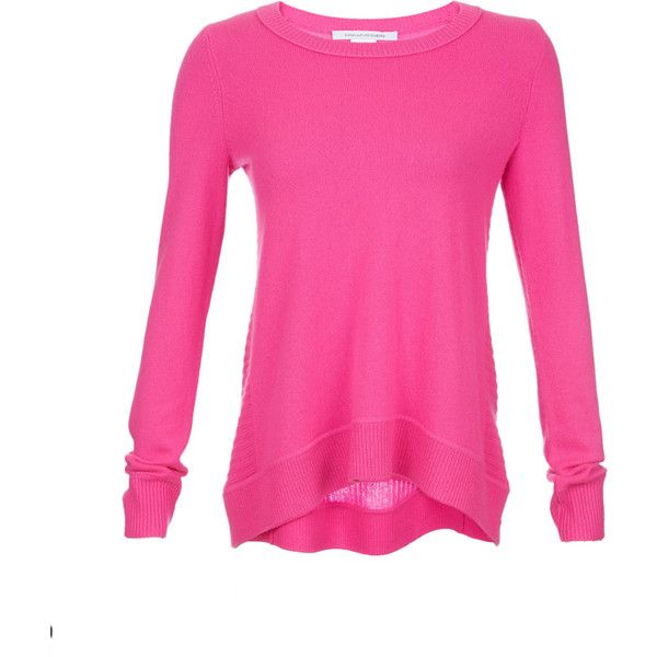 Diane Von Furstenberg Cashmere Sweater ($239) ❤ liked on Polyvore featuring tops, sweaters, hot pink, diane von furstenberg, hot pink sweater, hot pink top, diane von furstenberg tops and pink cashmere sweater