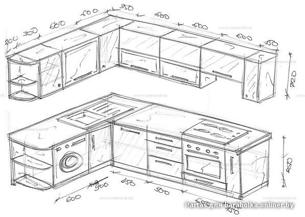 чертежи кухни