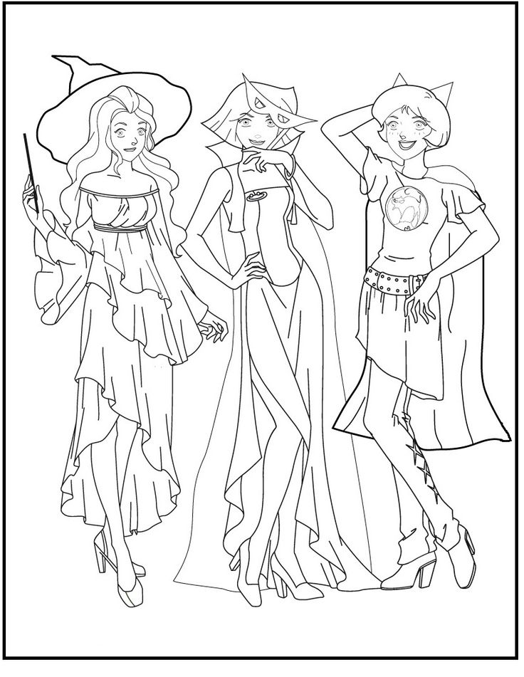 coloring pages totally spies - photo#47