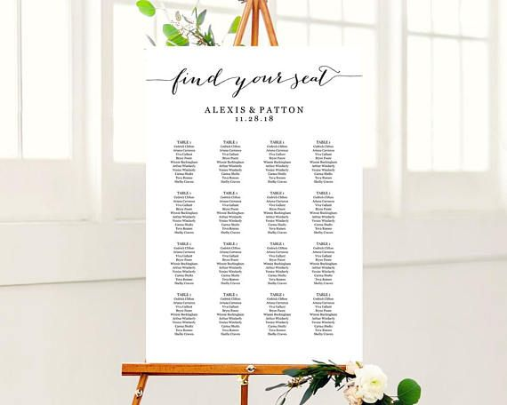 147 best Seating Chart Templates images on Pinterest Marriage - seating chart template
