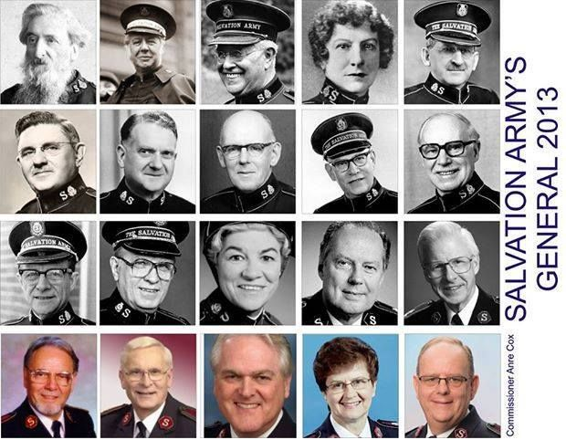 A history of Salvation Army Generals in picture portraits!