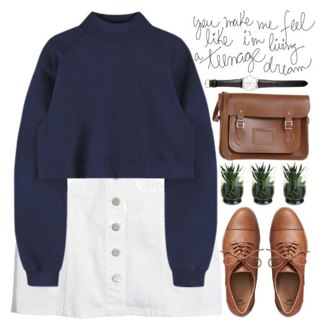 """""""teenage dream"""" by evangeline-lily ❤ liked on Polyvore featuring Madewell, Gap, The Cambridge Satchel Company, Ole Mathiesen, denim, madewell, sweaterweather, gap and fallwinter2017"""