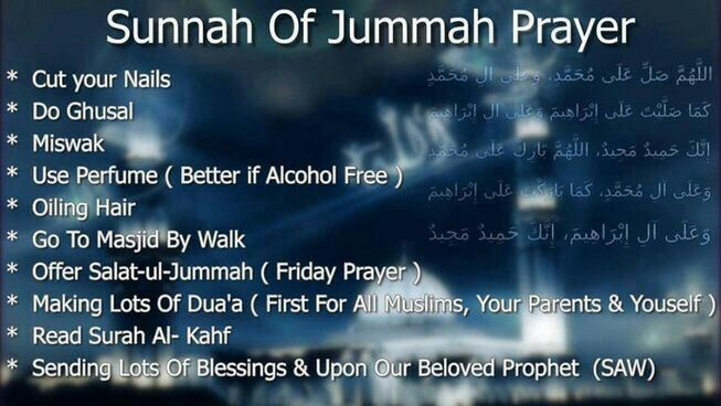 Sunnah of Jummah Prayer