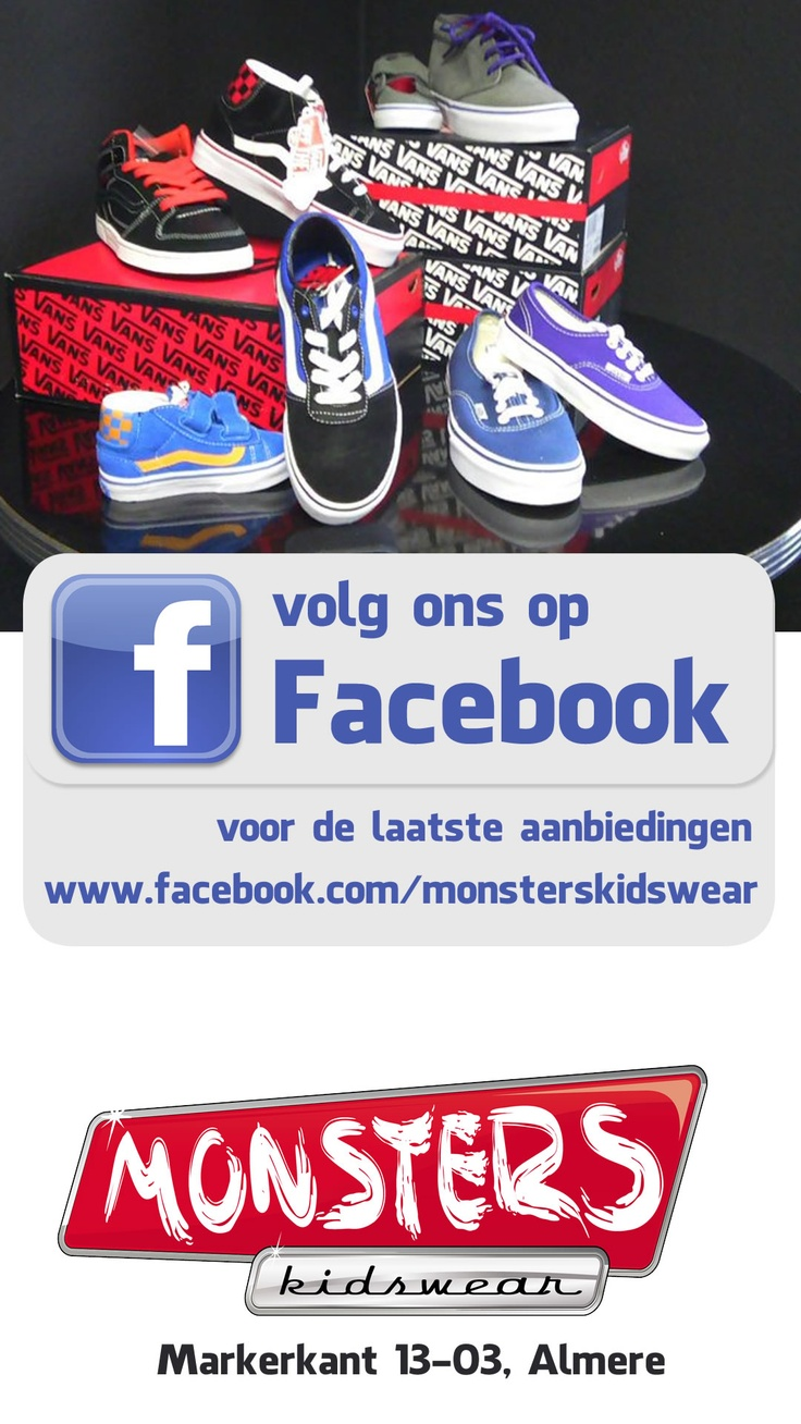 Monsters Kidswear, volg ons op facebook voor de laatste aanbiedingen. #Almere #Dronten #Diemen