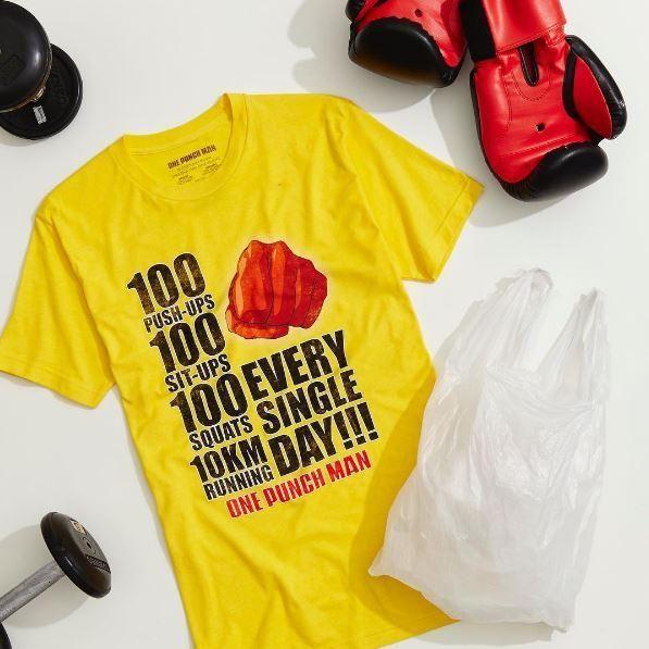 NO DAYS OFF! // One Punch Man Workout T-Shirt